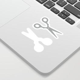 Grey Scissors Sticker