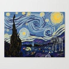 Starry Wars Night Canvas Print