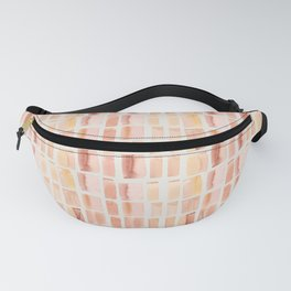Coral Watecolor Grid - Organic Handpainted pattern - Home Goods, Duvet, Shower Curtain Fanny Pack