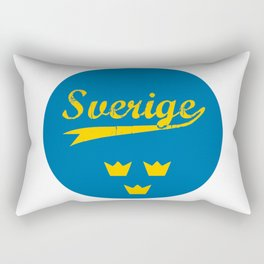 Sweden, Sverige, circle Rectangular Pillow