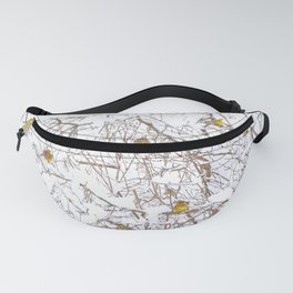 Song Birds In Snowy Branches Winter Scene Fanny Pack