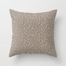 PolkaDots-Peach on Taupe Throw Pillow