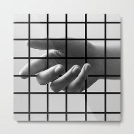 Caged Hand 3 Metal Print