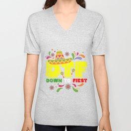 DTF Down to Fiesta T-shirt Unisex V-Neck