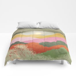 Colorful mountains Comforters
