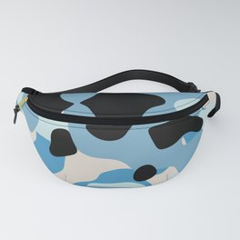 Blue Camo abstract Fanny Pack