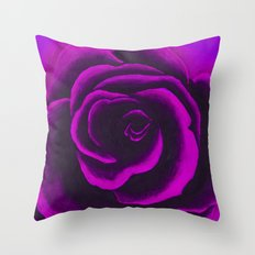 Violet Rose Throw Pillow