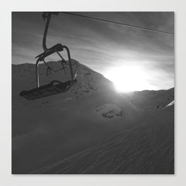 Chairlift, Verbier Canvas Print