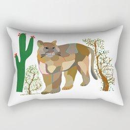 Mountain Lion in Desert Rectangular Pillow