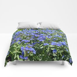 Field of Blue Comforters