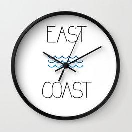 East Coast Waves Wall Clock