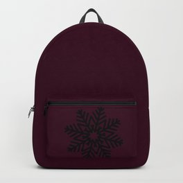 Mulled Berry Wine Snow Flake and Trees Backpack