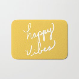 Happy Vibes Yellow Bath Mat