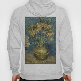 Fritillaries in a Copper Vase by Vincent van Gogh Hoody