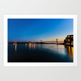 Eriksberg Bridge Art Print