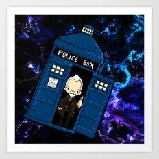 Tardis in space Doctor Who war 8.5 Art Print