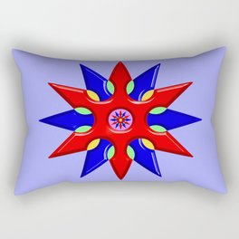 Shuriken Lotus Flower Rectangular Pillow
