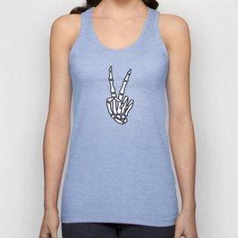 Peace skeleton hand Unisex Tank Top