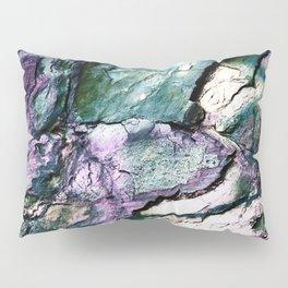 Textured Minerals Teal Green Purple Pillow Sham