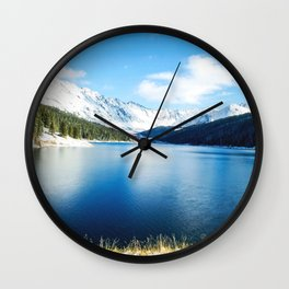Clinton Gulch // Day Light Mountain Lake Forest Snow Peak Landscape Photography Hiking Decor Wall Clock