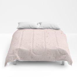 Elegant girly blush pink rose gold glitter pattern Comforters
