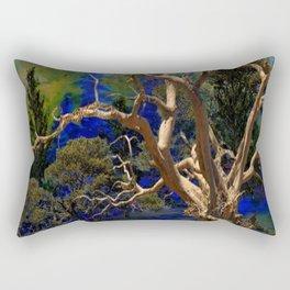 CONTEMPORARY BLUE  WILDERNESS ART  DESIGN Rectangular Pillow