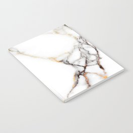White gray and rose-gold faux marble Notebook