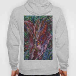 canvas painting wild orchid Hoody