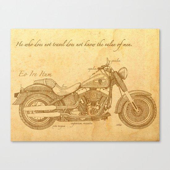 Travel Plan Canvas Print