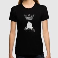 Queen Bee Black SMALL Womens Fitted Tee
