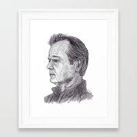 bill murray Framed Art Prints featuring Bill Murray by jamestomgray