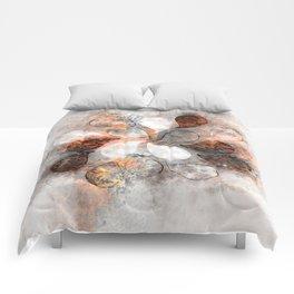 Metallic water drops Comforters