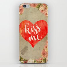 Vintage Quotes Collection -- Kiss Me iPhone & iPod Skin