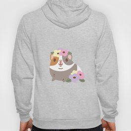 Guinea pig and flowers Hoody