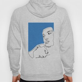 line drawing-Faces Hoody