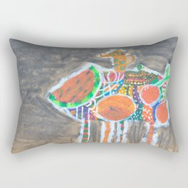 Space Fruits in my Room Rectangular Pillow