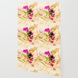 bumble been on a dune flower Wallpaper