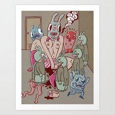 grrl, leak Art Print
