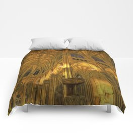 Golden Light Cathedral Comforters