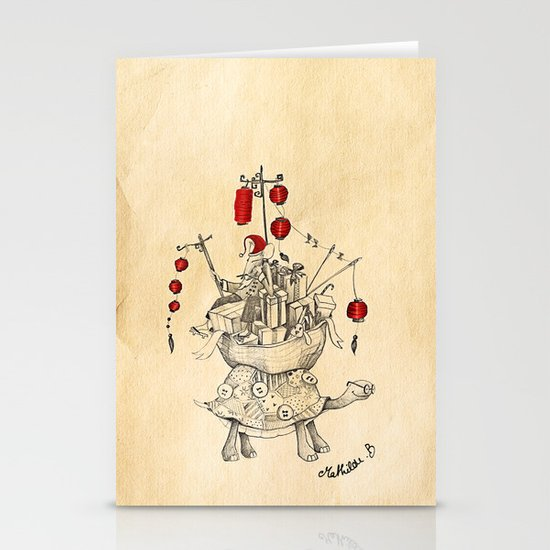 Mouse in China Stationery Cards