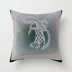 Bird Shadow Throw Pillow