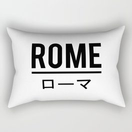 Rome In Japanese Rectangular Pillow
