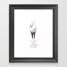 Hombre Mariposa Framed Art Print
