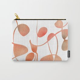 Organic abstract watercolor in living coral Carry-All Pouch
