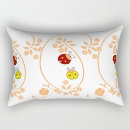 Bugs Vines Rectangular Pillow