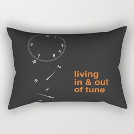 living in & out of tune Rectangular Pillow
