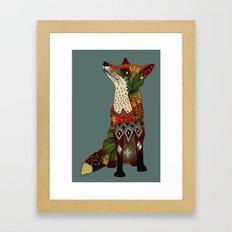 fox love juniper Framed Art Print