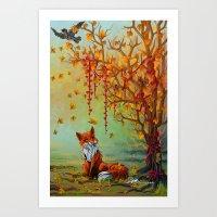 A Little Autumn Mood Art Print