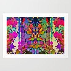 Thru the Kaleidoscope  Art Print