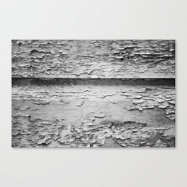 Flaky (black and white) Canvas Print